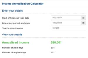 Free Income Annualisation Calculator