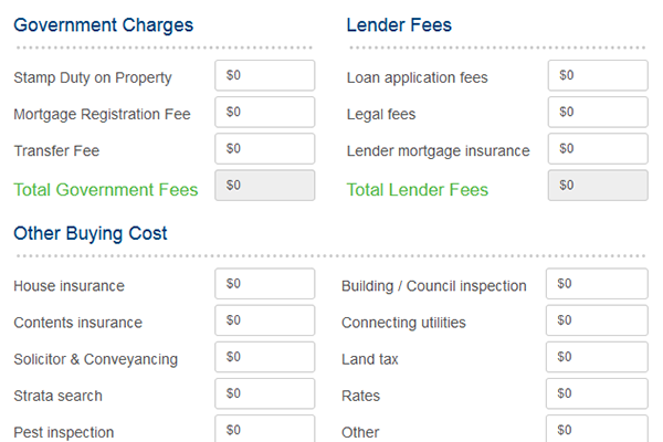 Free Property Buying Cost Calculator